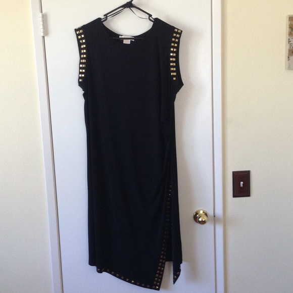 Michael Kors Dresses Plus Size Sexy Black Studded Dress Poshmark