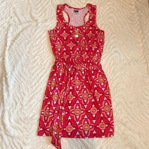 Mud Pie Dresses & Skirts - [Mud Pie] patterned pink and red summer dress
