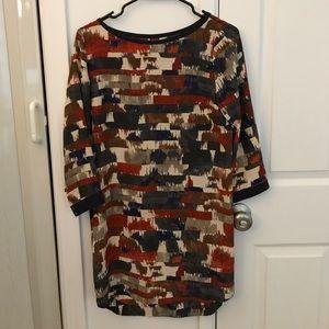 Club Monaco silk dip dye dress, size 0