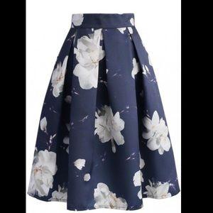 chicwish Dresses & Skirts - Chicwish Jasmine Night Printed Midi Skirt