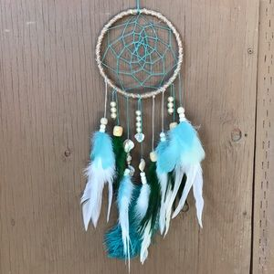 Other - Blue, green, tan and pearl dream catcher