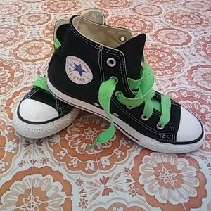Converse Other - Kids Black Converse High Tops Size 1
