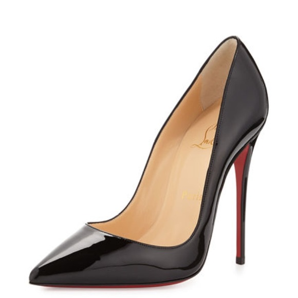 super popular 66be0 963ae Christian Louboutin Pigalle 100 Patent Calf Heel