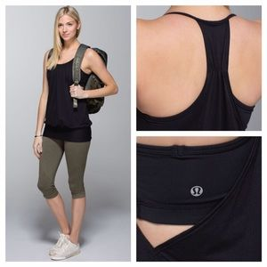 lululemon athletica Tops - Lululemon No Limit Tank Blk NWOT