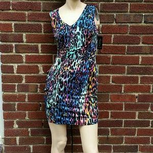 Thalia Sodi Dresses & Skirts - THALIA SODI Multicolor Leopard Print Dress
