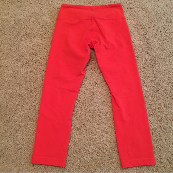 50% off lululemon athletica Other - Red Lululemon Cropped ...