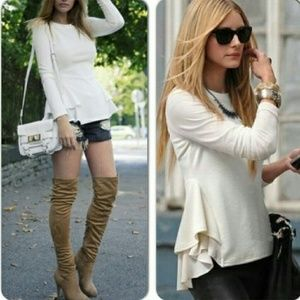 Tops - Long-sleeved Side Layered Top