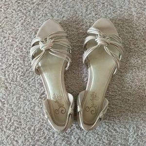 Seychelles Shoes - Seychelles metallic nude sandals