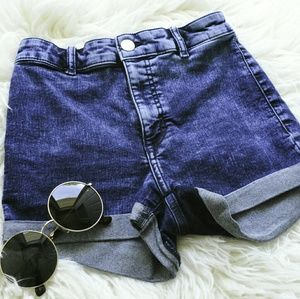Dark Washed Denim Shorts