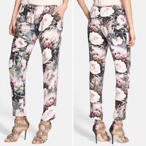Haute Hippie Pants - Haute Hippie Watercolor Floral Silk Pants