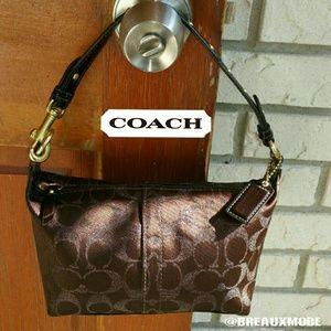 Coach Handbags - ? Coach - Glitter Signature Shoulder Mini Bag