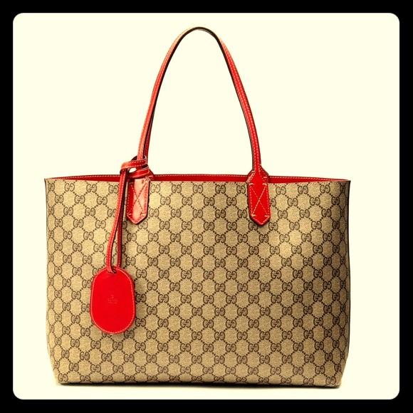 b37ac4f1f5d Gucci Handbags - Gucci Reversible GG Leather Tote