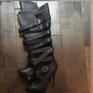 Babe & Tess Shoes - Bebe knee high boots