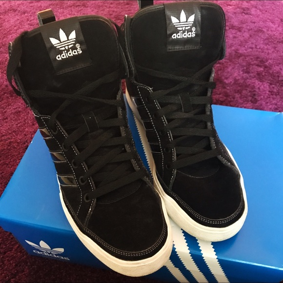 72 Off Adidas Shoes - Womens Adidas Suede Black High Top -3312