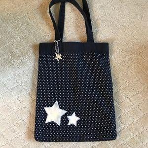 anchor blue Handbags - Star Canvas Bag