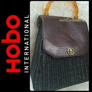 HOBO Handbags - Hobo International Leather Wicker Bag