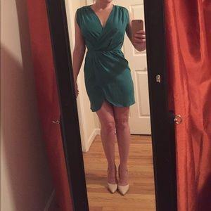 Alice & You Dresses & Skirts - Green tulip/faux wrap mini dress
