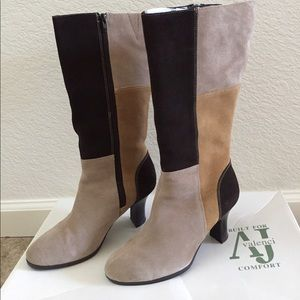 Aj Valenci Shoes - Suede Leather Boots. Size 7.