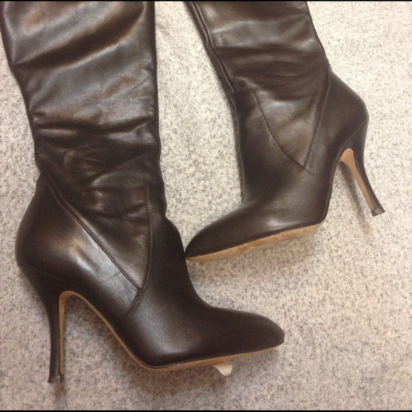 83 via spiga shoes via spiga brown leather heeled