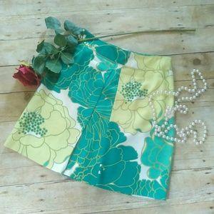 Ann Taylor Dresses & Skirts - Ann Taylor Silk Blend Floral Skirt Size 2P