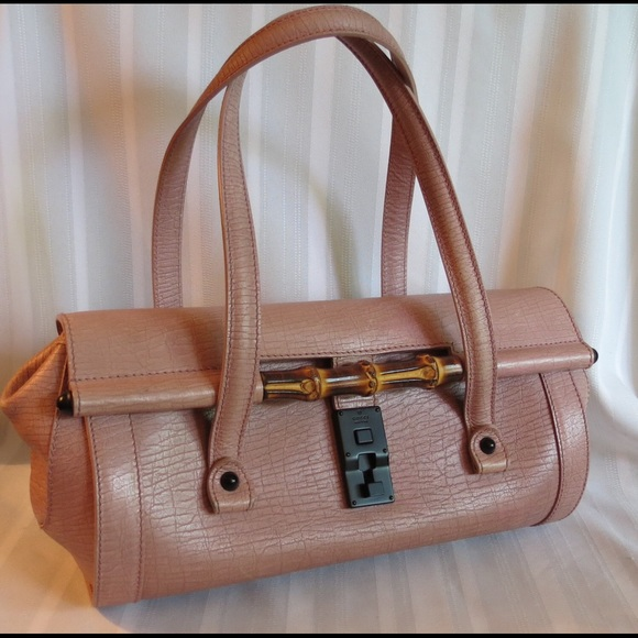 Gucci Bags   Exotic Leather Bamboo Bullet Rose Satchel   Poshmark 88015780fb