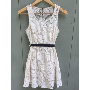 3/$20 Just Ginger Sleeveless Cream Lace Dress - M