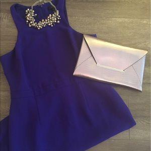 BCBG Metallic Lavender Envelope Clutch
