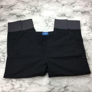 Vera Wang Pants - VERA WANG women's cropped pants with grey cuff