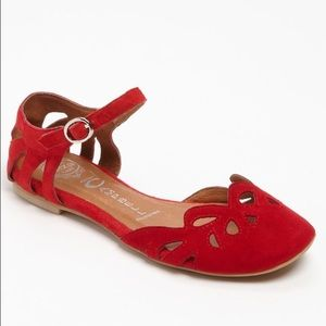 Jeffrey Campbell Shoes - Jeffrey Campbell Cinda Red Flats