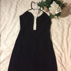 Tea n Cup Dresses & Skirts - NWT Tea & Cup Lace Accent Halter Maxi Dress, M