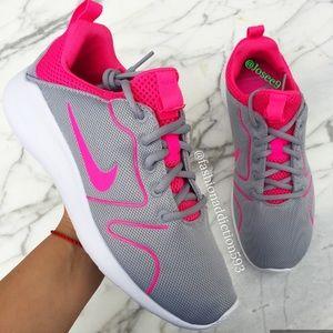 Nike Shoes - Nike kaishi (Roshe) Women's pink gray sneakers