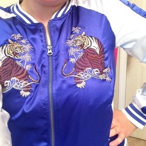 Jackets & Blazers - 🐯🔷Blue Chinese tiger track jacket