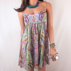 Milly Dresses & Skirts - Milly Cabana Colorful Paisley Babydoll Dress