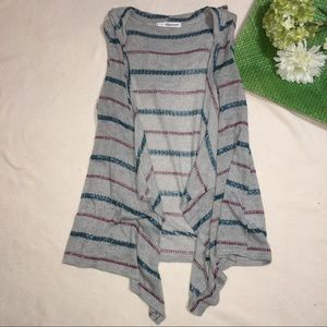 MAURICES | striped hooded lightweight sweater vest