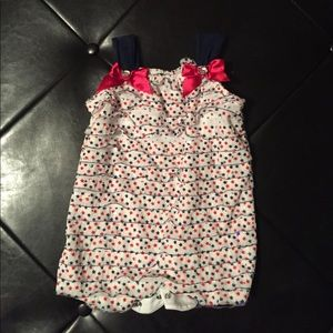 Little Lass Other - Cute Red, white and blue romper
