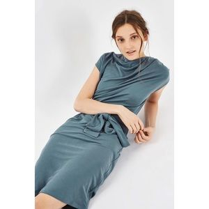 Topshop Dresses & Skirts - Topshop • slate gray drape midi dress