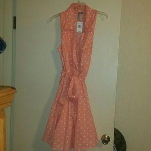 City Chic Dresses & Skirts - Women sleeveless dress peach color