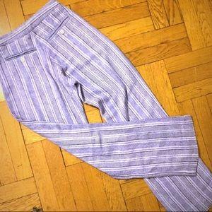 Karen Walker Pants - Karen walker high waisted wide leg silk pants