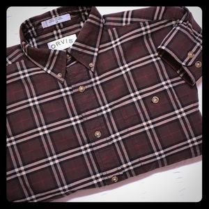 Orvis Other - ORVIS brown plaid Button Down Medium