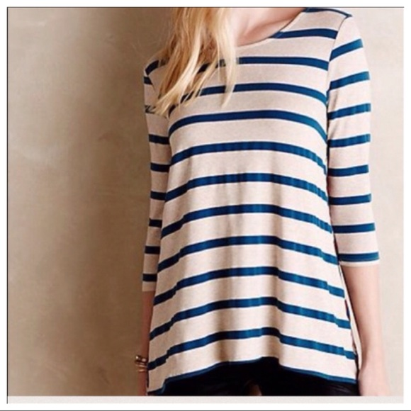 ca380757a4c Anthropologie Tops - Puella Anthropologie Striped Swing Tunic Top