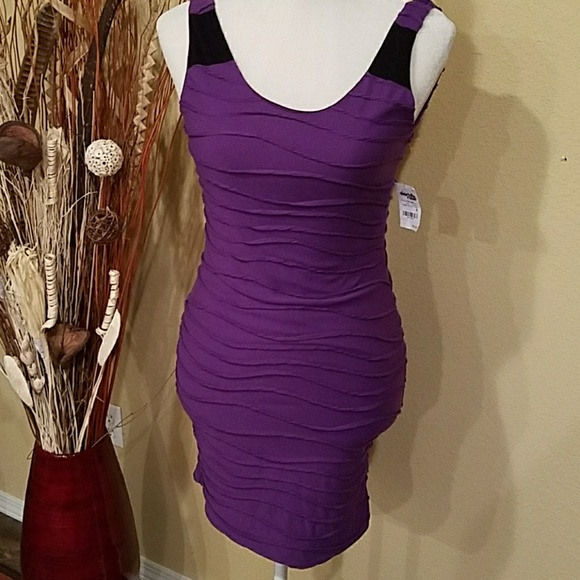 Charlotte Russe Dresses & Skirts - *Final Price*  Purple tank dress with ruching