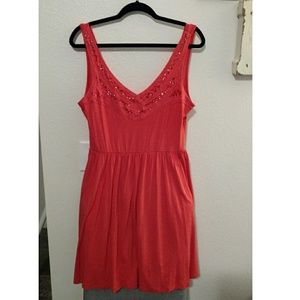 5th & Love Dresses & Skirts - Orange/Coral Mini Dress