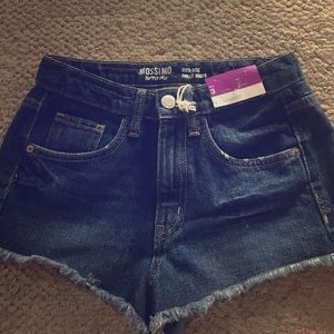 Pants - High Waisted Jean Shorts - Good Condition