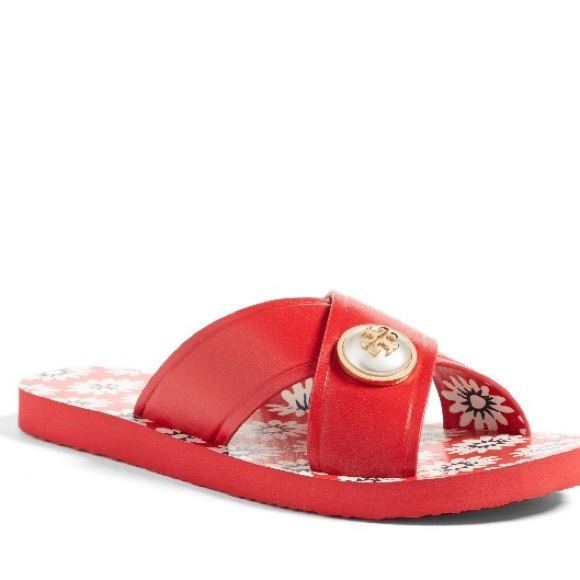 da18bafe43a7 Tory Burch Shoes - Tory Burch Melody Red Cross cross sandals 10
