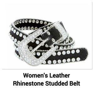 Women's Rhinestone Studded Belt