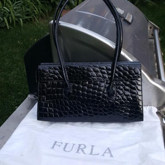 Furla Handbags - Black  crocko imbosed bag