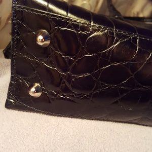 Furla Bags - Black  crocko imbosed bag