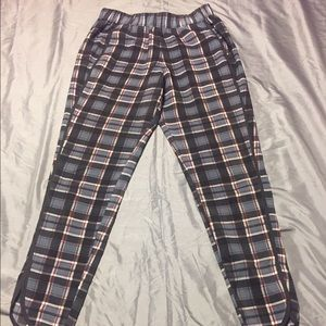 Wayf Pants - GUC Plaid Track Pants