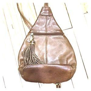 Tignanello Handbags - 💞Tignanello tan leather one strap back pack boho