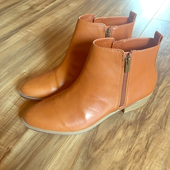 30399d55bb6bd Chaps Shoes | Sabra Brown Womens Zipper Ankle Boots | Poshmark